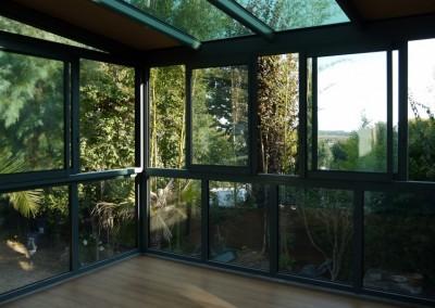 Véranda avec toiture bio climatique