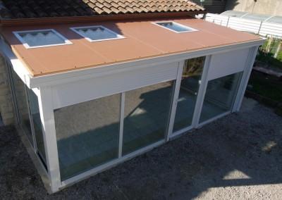 Véranda toiture autoportante avec puits de lumière