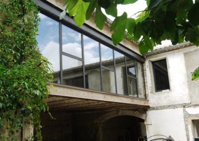Baie vitrée d'atelier